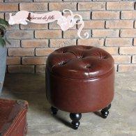 マカロンスツール 一人掛け ワインレッドPUレザー マルーン aj6p56k リプロ