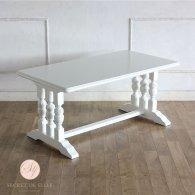 ローテーブル ホワイト ブルボーズレッグ  2026-18 リプロ C 110x60x50
