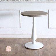 カフェテーブル Φ60cm 丸脚 オーク材 プラスターウッド ホワイト frt1-60r-lw-3 リプロ