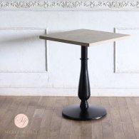 カフェテーブル 60cm角 丸脚 オーク材 プラスターウッド ブラック frt1-60s-lb-3 リプロ