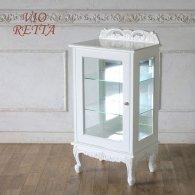 ロマンス家具 VIORETTA ヴィオレッタシリーズ ガラスキャビネット rcc-1752aw