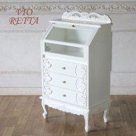 ロマンス家具 VIORETTA ヴィオレッタシリーズ ガラスキャビネット rcc-1797aw