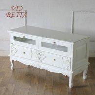 ロマンス家具 VIORETTA ヴィオレッタシリーズ リビングボード rtv-1757aw