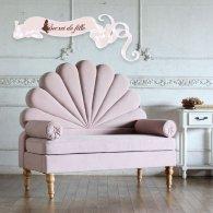 ベンチ チェア 2人掛け セッティ セティ アンティーク ソファ ロココ 姫系 椅子 いす おしゃれ かわいい ロココ hnbs-b-f237 リプロ D 130*55*115