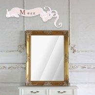 ウォールミラー Mサイズ ゴールド W67cm×H87cm q-mr-601 リプロ