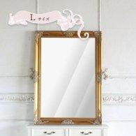 ウォールミラー Lサイズ ゴールド 77cm x 107cm q-mr-602 リプロ