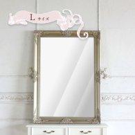 ウォールミラー Lサイズ シルバー 77cm x 107cm q-mr-502 リプロ