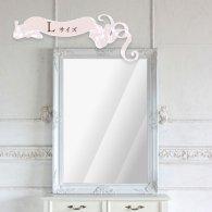ウォールミラー Lサイズ ホワイト 77cm x 107cm q-mr-552 リプロ