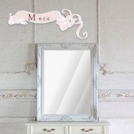 ウォールミラー Mサイズ ホワイト q-mr-571 リプロ
