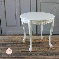ラウンドテーブル ホワイト 4235-8-18 リプロ B 80*80*10