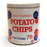 A&P Jane Parker  POTATO CHIPS 缶( ティン缶)
