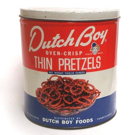Dutch Boy Food プレッツェル ティン缶