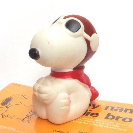 スヌーピー ソフビ レッドバロン dogtoy(犬用おもちゃ)