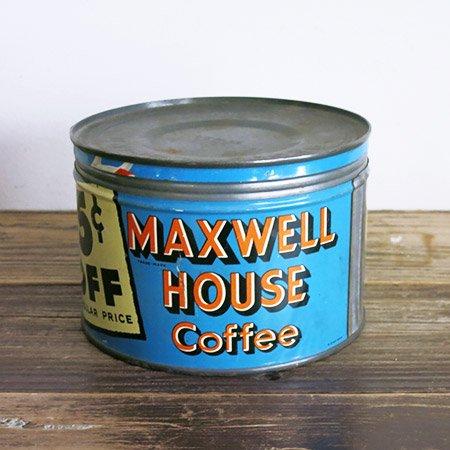 マックスウェルハウスコーヒー ティン缶