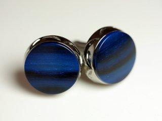 【20mmサイズ】ブルーがとても綺麗なビックなカフスボタン Advanced 132