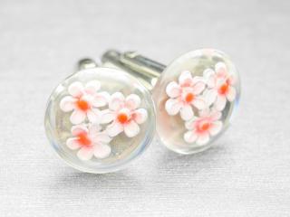 桜の季節にぴったりの素敵な花をあしらったカフスボタン Modern 014