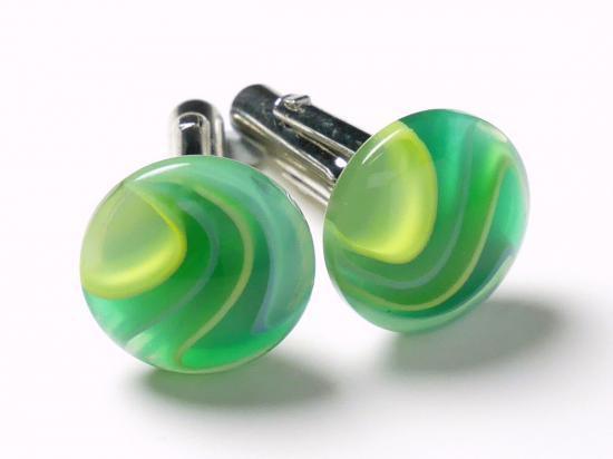 グリーン好きにはたまらないカフスボタン Modern 063