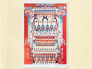 ポストカード・花時の楼閣