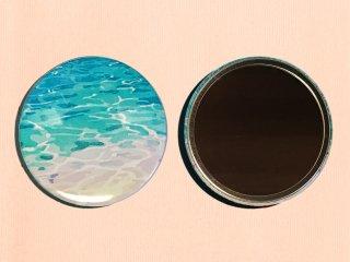 lagoonblue 76mm缶ミラー