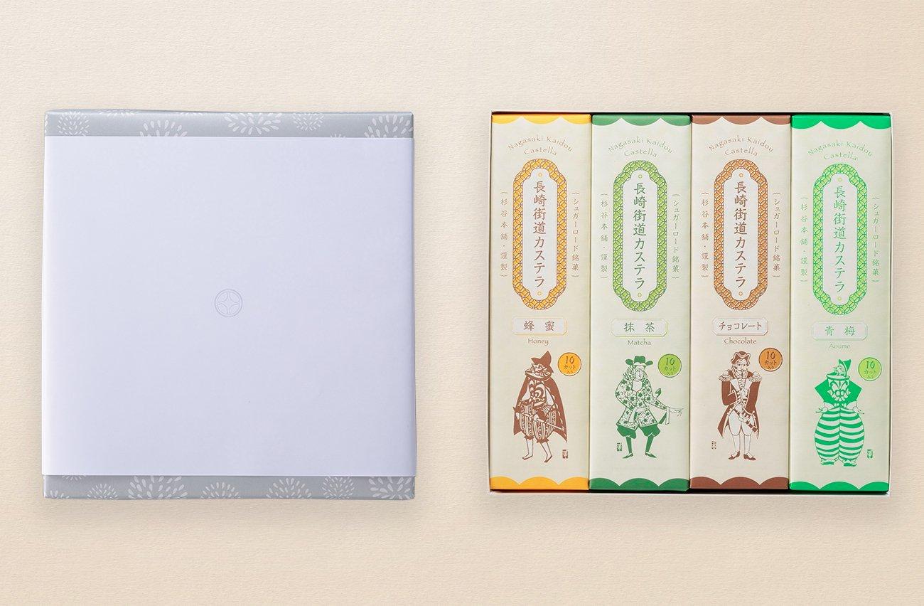 法事用引き菓子 長崎街道カステラ0.65号4本詰合せ