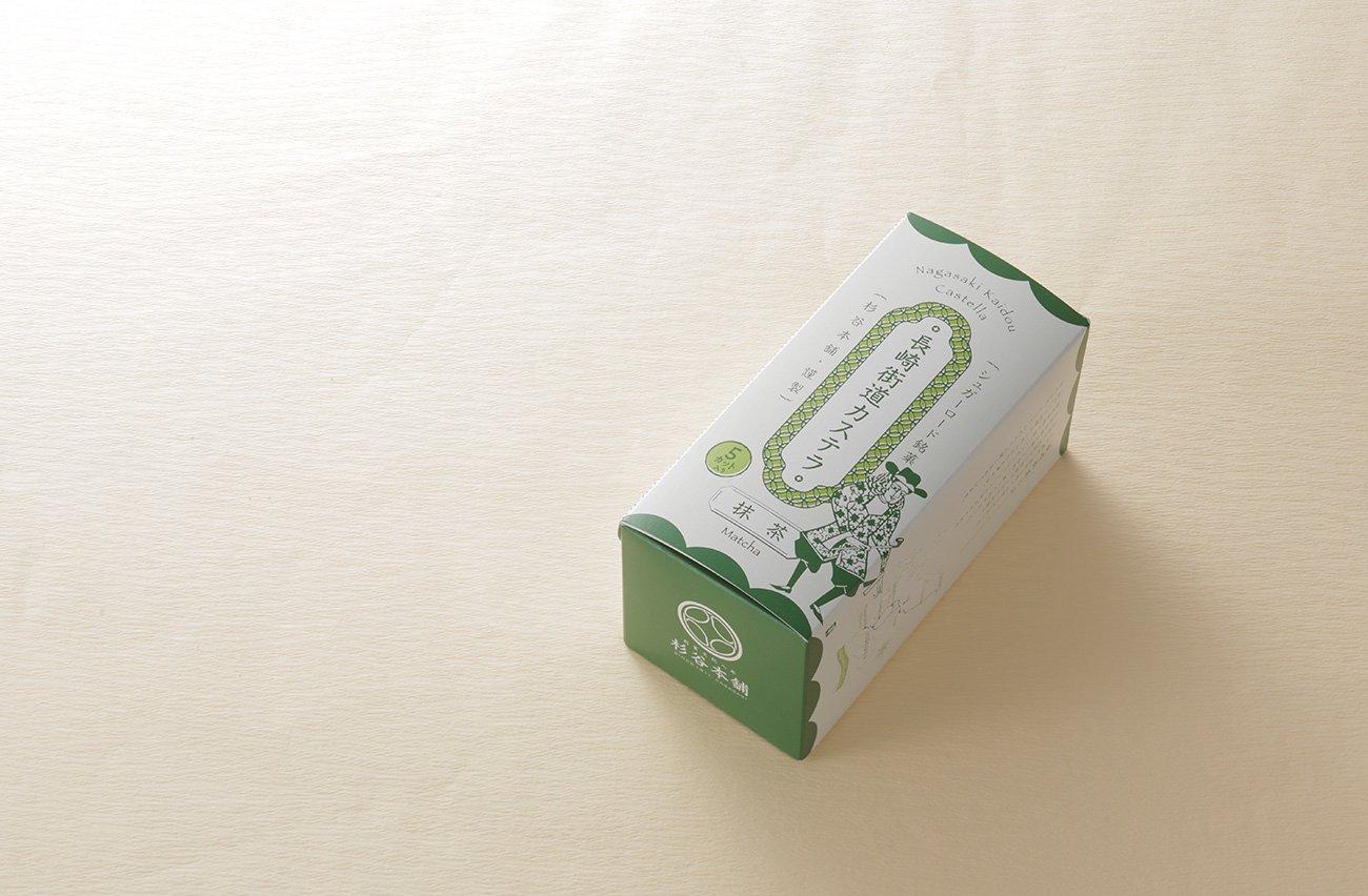 杉谷本舗の長崎街道カステラ抹茶風味0.3号
