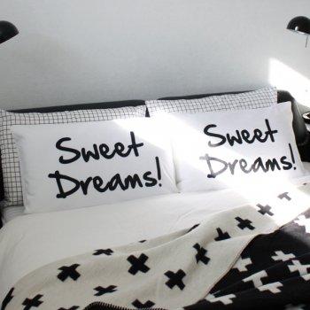 【ピローカバー】SWEET DREAMS! パイルピローカバー 白