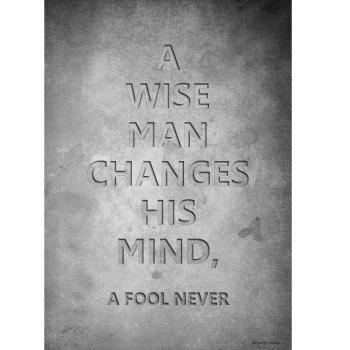 【ポスター】A WISE MAN CHANGES ポスター B2 インテリア雑貨 モノトーン