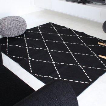 【ラグ】sisdesign ORIGINAL ウォッシャブル 綿混 ラグ 176×176cm