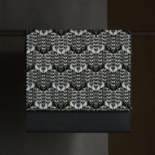 型染名古屋帯 矢羽根(紬)