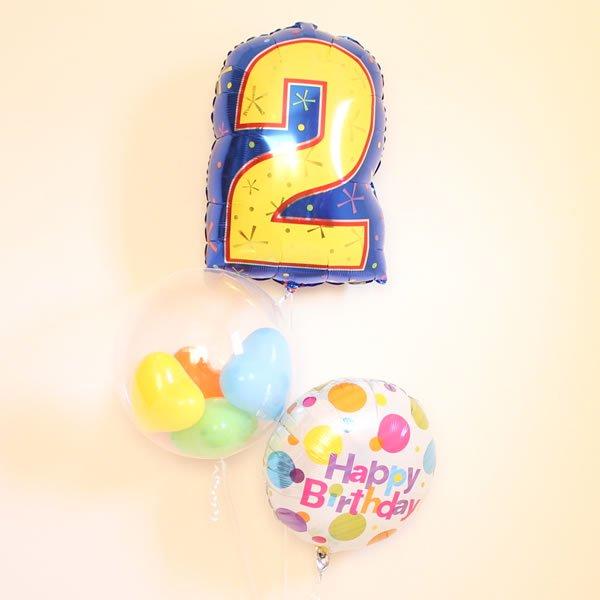 お誕生日ナンバーバルーンセット (1桁)