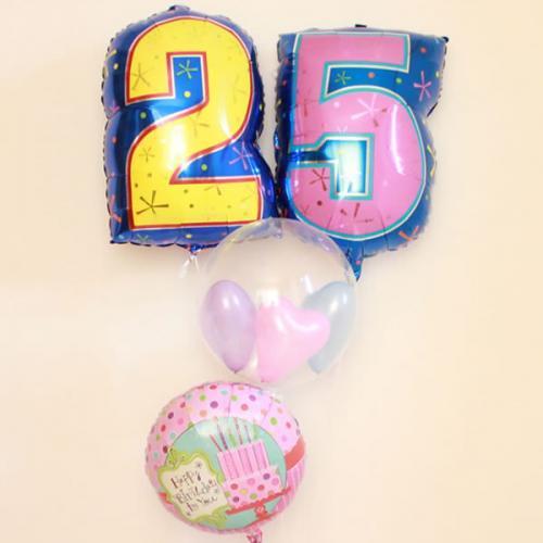 お誕生日ナンバーバルーンセット (2桁)