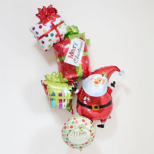 【クリスマスバルーン】カラフルクリスマスプレゼント