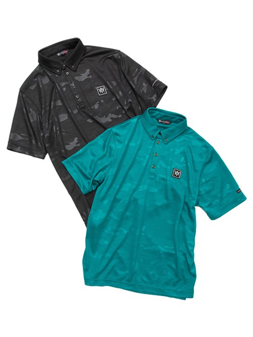 EMBOSS CAMO POLO SHIRTS<img class='new_mark_img2' src='https://img.shop-pro.jp/img/new/icons1.gif' style='border:none;display:inline;margin:0px;padding:0px;width:auto;' />