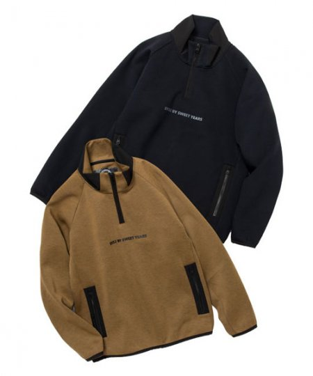 DOUBLE KNIT HALF ZIP<img class='new_mark_img2' src='https://img.shop-pro.jp/img/new/icons1.gif' style='border:none;display:inline;margin:0px;padding:0px;width:auto;' />