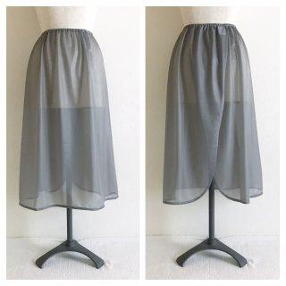 �【スカートご購入履歴のあるお客様用】ロングペチコート:丈70cm:グレー