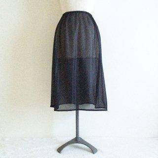 �【スカートとご一緒に購入のお客様用】ロングペチコート:丈70cm:ブラック