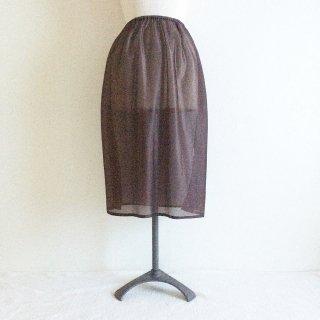 �【スカートとご一緒に購入のお客様用】ロングペチコート:丈70cm:ブラウン