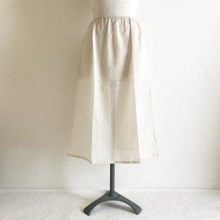�【スカートとご一緒に購入のお客様用】木綿のペチコート:70cm丈:ベージュ