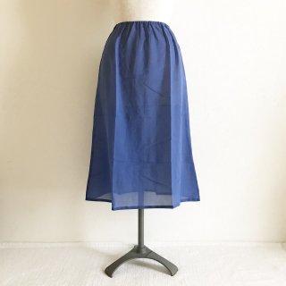�【スカートご購入履歴のあるお客様用】木綿のペチコート:70cm丈:ブルー