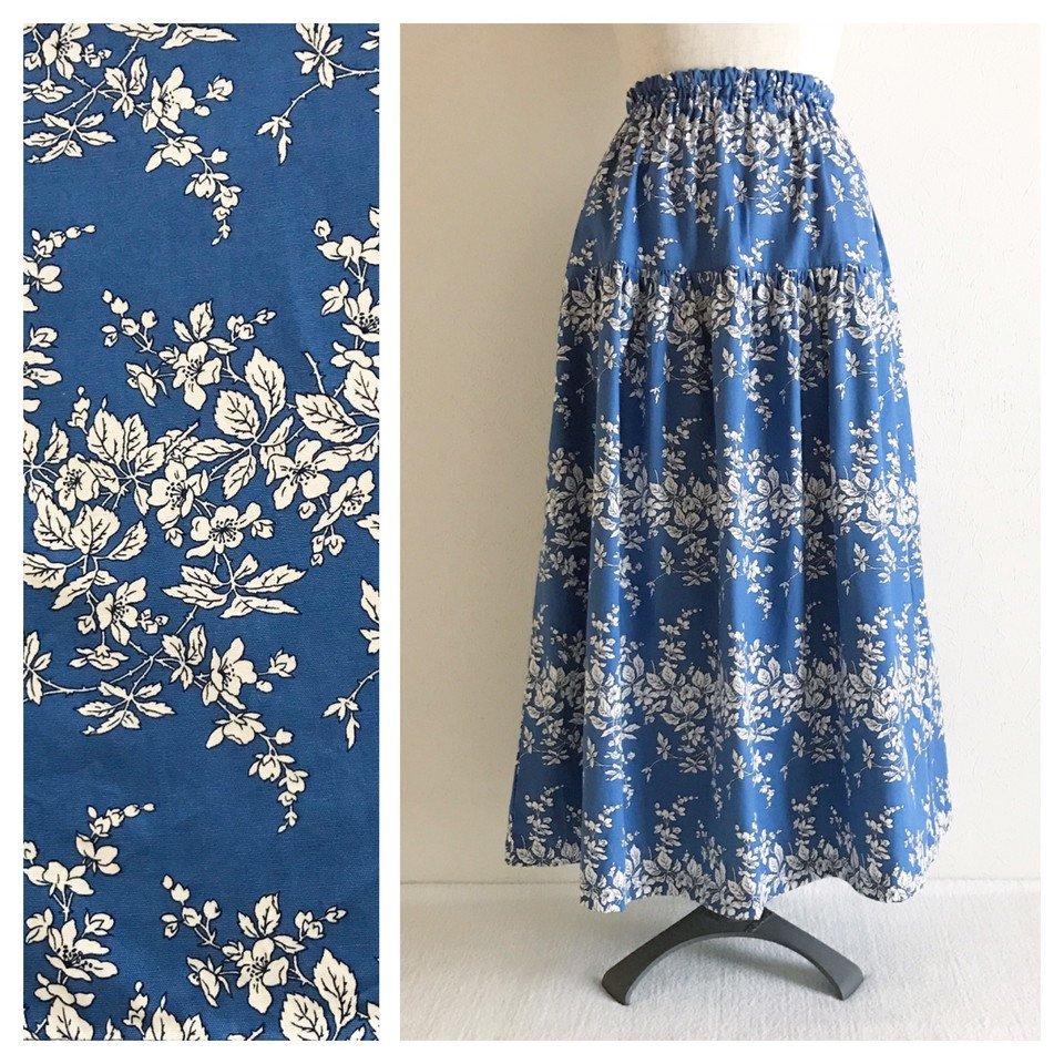 MS様ご予約品■すっきりシルエットのティアードスカート(ワイルドローズ:ロイヤルブルー)