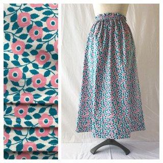 野の花揺れるシンプルAラインスカート(フレイヤ)