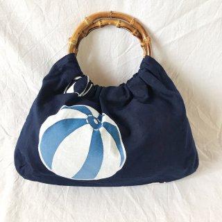 【和柄】浴衣生地:スカートとおそろいバッグ(紙風船)