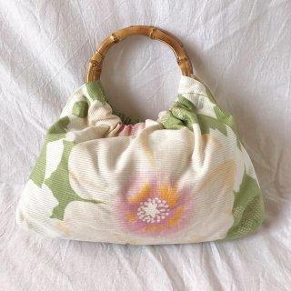 【和柄】浴衣生地:スカートとおそろいバッグ(芙蓉)