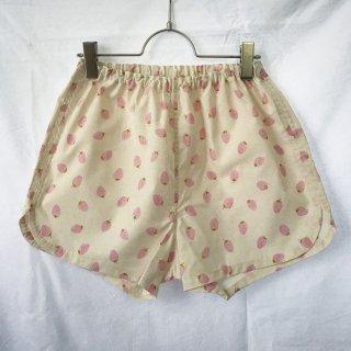 ★送料無料★アウトレット:可愛いハギレのショートパンツ:M(苺:ピンク)