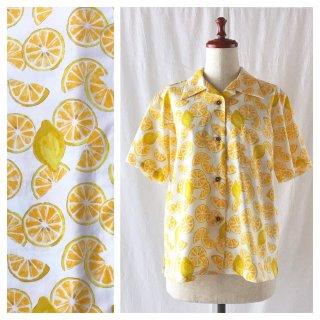 【気持ち上げていきましょう!】レディスアロハシャツ2020(レモン:ホワイト)
