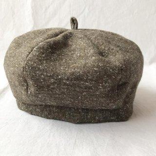 三毛猫屋のベレー帽 S/M/L(ふかふかネップ:ブラウン)