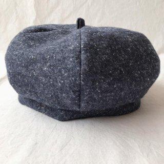 三毛猫屋のベレー帽 S/M/L(ふかふかネップ:ネイビー)