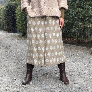 寒い季節を元気に過ごすロングキュロット(80cm:L)(シャツコールウッディ:ミルクティ)