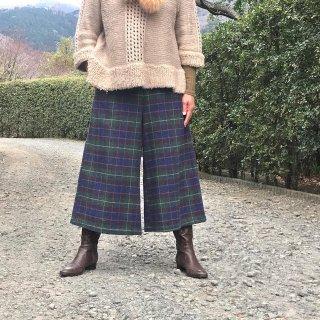 寒い季節を元気に過ごすロングキュロット(80cm:L)(コットンジャガード:ネイビー)