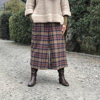寒い季節を元気に過ごすロングキュロット(80cm:L)(コットンジャガード:ブラウン)